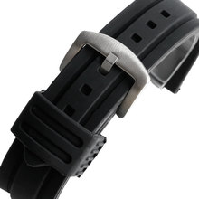 20mm 22mm 24mm 26mm 28mm Wrist Watch Band Military Army Black Silicone Rubber Strap Replacement Pin Buckle Sport Waterproof Soft(China)