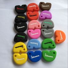 Silicone Key Cover For VESPA LX GTS GTV GT 125 250 300 KEY FOB SILICON CASE COVER PROTECTOR(China)