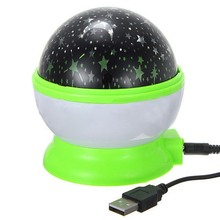 Rotation Starry Star Sky Flashing Romantic Moon Room Night Light Lamp Projector(China)