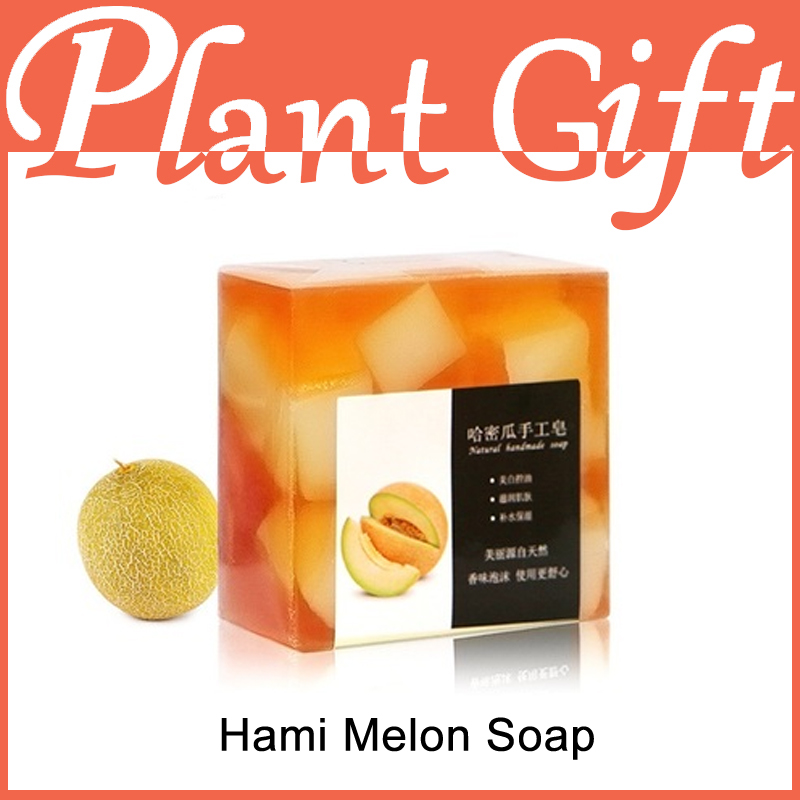 100g Hami Melon Handmade Soap Whitening Skin Whitening Soap Acne Handmade Soap Transparant Soap Exfoliating Freckle Acne(China (Mainland))