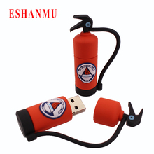 Promotion pendrive Fire Extinguisher bottle pen drive 4gb 8gb 16gb 32gb usb flash drive flash drive usb Memory Stick(China)