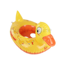 1Pcs Duck Design Kids Baby Child Inflatable Swimming Pool Swim Ring Seat Floating Boat Water Sports(China)