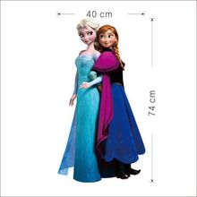 Elsa Anna Wall Stickers Decal Removable 74cm Tall Room Home Decor art Mural