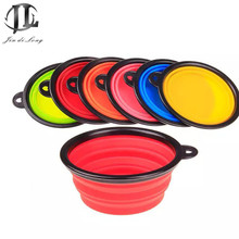 *2017 Good Quality Silicone Pet Bowl Dog Bowl Black Trim Folding Portable Outdoor Travel Pet Supplies  A variety of colors