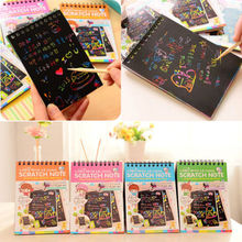 US Magic Scratch Art Painting Book Paper Colorful Educational Playing Toys(China)