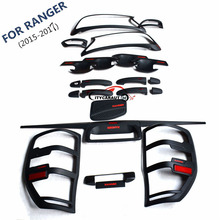 FOR 2015-2017 ford RANGER front tail lamp Handle cover bowl cover rear trunk lid accessory accessories complete set(China)