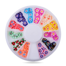 Polymer Clay Nail Art Flowers,5mm 120pcs/lot 3d Mix Design Fimo Slicing Nail,DIY Beauty Manicure Wheel Nail Decoration Tools