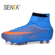 SENTA New Men Soccer Shoes FG Low Ankle Superfly Football Boots Kids Original Gold Metallic Cleats Sneakers Wholesale 2017(China)