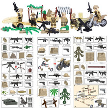 2017 New Mini Desert Commandos Ranger Special Force Brigade Military figure Weapons Building Block Toy Compatible with lego