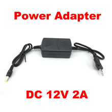 DC 12V 2A power adapter power supply input AC 100~240V  50/60Hz Charger EU Plug Adapter for CCTV Camera