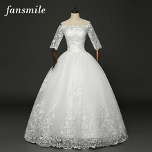 Buy Fansmile Real Photo Vintage Lace Ball Wedding Dresses 2017 Vestido Robe de Mariage Customized Plus Size Bridal Gowns FSM-347F for $92.00 in AliExpress store