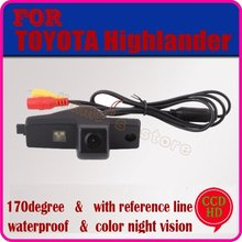 color CCD HD car rear view camera parking camera rear view system car security for TOYOTA Highlander night vision free shipping