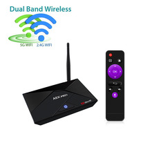 A5X PRO RK3328 2G+16G Android 7.1 Network TV player Smart 4K Quad Core HD WiFi Bluetooth kodi Set-top TV Box IPTV Media Player(China)