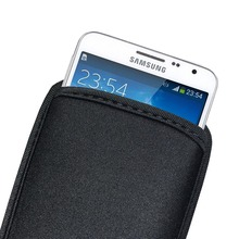 Black Soft Flexible Neoprene Protective Pouch Bag for Samsung Galaxy Note 3 N9000 Note 2 N7100 Protect Sleeves Pouch Case
