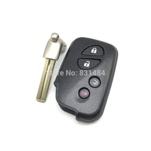 10pcs/lot Replacement car key 4 button remote smart key shell for lexus ES350 GS350 GS450h IS250 IS350 LS460 key cover(China)