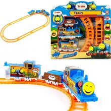 HOT Sales DIY Slot Model For Thomas Electric Train Track Risky Train Railway Rail Bridge Drop Play Set Toy For Children's gifts