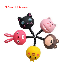 QvvCev 1Pcs 3.5mm Universal Anti Dust Plug Lovely Cute Animal Anime Cartoon Cat Pig Rabbit Bear Phone Headset Earphone Ear Jack(China)