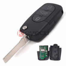 New Folding Remote Key Fob 3 button 433Mhz ID48 Chip for AUDI Old Style A3 A4 A6 ALLROAD A8 QUATTRO TT RS4 4D0 837 231 N