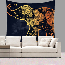 Smiry 130X150cm Short Plush Tapestry Animal Indian Elephant Wolf Butterfly Pattern Wall Hanging Yoga Mat licorne Beach Towel(China)