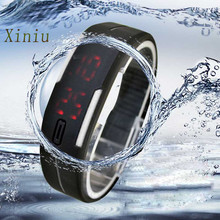 Black Ultra Thin Men Girl Sports Watches Silicone Digital Red LED Digital Sport Wrist Watch Saat Women's Watches erkek kol saati