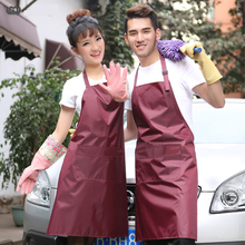 Wash Car Waterproof PVC Apron Restaurant Hotel kitchen Aprons Men And Women Antifouling Cleaning Black White Apron With Pockets