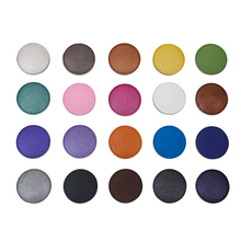 Wholesale 20colors 25mm single shimmer matte eyeshadow palette DIY easy to wear Refill Empty Magnetic Palette With PET Packaging