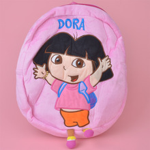 Pink Color Dora Plush Toy Backpack, Kids Child Plush Bag Gift Free Shipping(China)