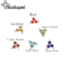 2016 Round Gold Alloy Colorful Crystal Birthstone Charms12pcs/lot  8MM DIY Necklace Earrings Bracelet Accessories Free Shipping