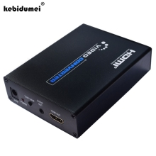Newest SCART to HDMI Converter Splitter 5V 1A Power Supply Scaler Box Video Converter For NTSC PAL SECAM HDTV Projector DVD HDMI