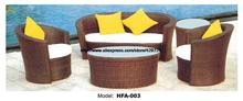 Garden Cane Furniture Rattan Sofa Table Ottoman Cane Sofa Set Garden Wicker Furniture Factory Furniture Beach Furniture HFA003