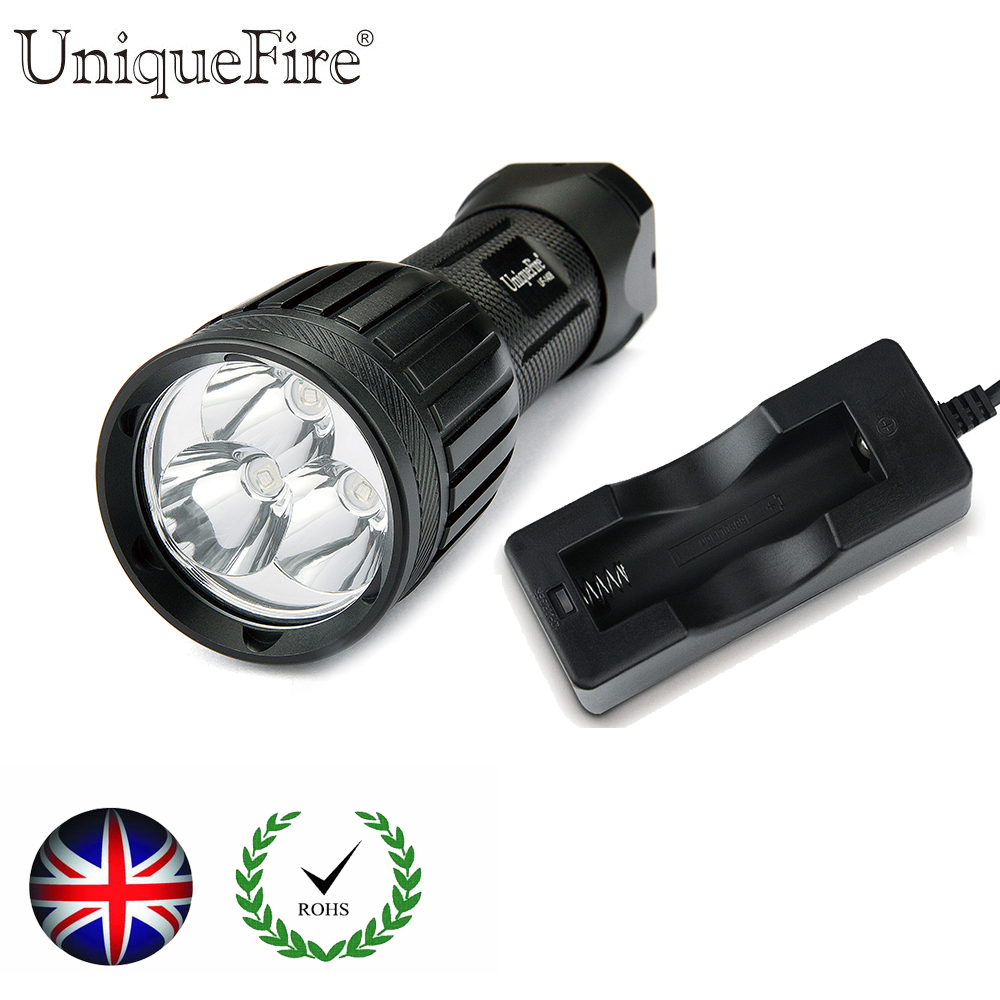 Uniquefire UF1408 Cree XM-L2 LED Falshlight  High Lumens Lampe Torche  For 1x 18650/26650 Battery+Charger<br>