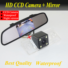 For VW Touareg/Poussin/Old Passat/Porsche Cayenne/Fabia/POLO(3C) Car rear view camera CCD  parking camera + 4.3inch car  mirror