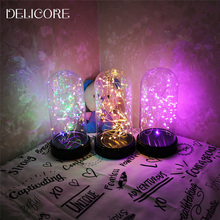 DELICORE Firework Night Lights For Home Decor LED Fairy Lights Christmas Wedding decoration Table Lamp Battery Operate S086