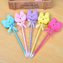 36pcs/lot New cute plush rabbit design ball pen fashion kawaii students' Promotion Gift prize Wholesale(China)