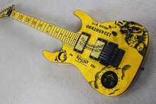 ESP Custom New KH-2 OUIJA Limited Edition Kirk Hammett Signature Yellow Electric Guitar  Free Shipping 1027
