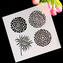 Flower Cake Stencil Fondant Template Cake Decorating Mold Cookies Stencil Kitchen Accessories Baking Tool