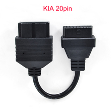 For Kia 20 PIN to 16 PIN OBD1 to OBD2 Connect Cable for Kia 20PIN Car Diagnostic Tool Cable for Kia 20 PIN Diagnostic Connerctor(China)