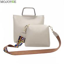 Buy Women PU Leather Clutch Handbag Top-handle Bags Colorful Strap Bucket Shoulder Messenger Bags Fashion Female Composite Bag for $9.14 in AliExpress store