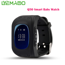 Lemado GPS Tracker Watch OLED Q50 for Kids SOS Emergency Anti Lost GSM Smart Phone Setracker APP for Android IOS phone