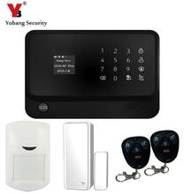 YobangSecurity G90B Touch Keypad WIFI GSM Security System Android IOS APP Remote Control PIR Motion Detector Magnet Door Sensor