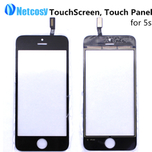 Cheap Black White Touch Screen Digitizer Touch Panel Display Front Glass Lens for iPhone 5S TouchScreen Replacement Repair Part