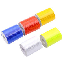 Car-styling Safety Mark Reflective tape stickers 5cmx3m Self Adhesive Warning Tape Automobiles Motorcycle Reflective Film 5color