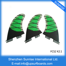 FCS II Quilhas FCS2 Fin Green/Orange K2.1 Carbon Fibre Fins Surf FCSII Carbon Fins in Surfing