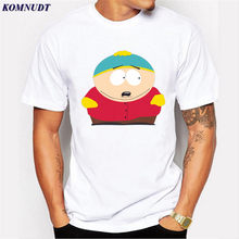 KOMNUDT Plus Size Anime South Park Men T Shirt Casual Tee Shirt Men's Short Sleeve Crew Neck High Quality Chic Clothing For Team(China)