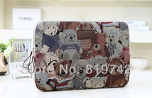 "Cute Bear Design Cotton Comfortable Laptop inner case Ultrabook sleeve pouch notebook computer cover 10""12""13""14""15"" for HP DELL"