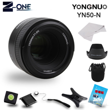 Buy YONGNUO YN 50mm f/1.8 AF Lens YN50mm Aperture Auto Focus Large Aperture Nikon DSLR Camera AF-S 50mm 1.8G Free Gift for $70.99 in AliExpress store