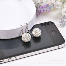 Free Shipping 11 Color 12MM Shamballa  Earrings Micro Disco Ball Shamballa Crystal Earring For Women Fashion Jewelry