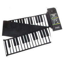 Silicon Keyboard Roll Up Piano with Loud Speaker US Plug 88 Key Flexible Electronic Piano with 23 Demonstration Songs