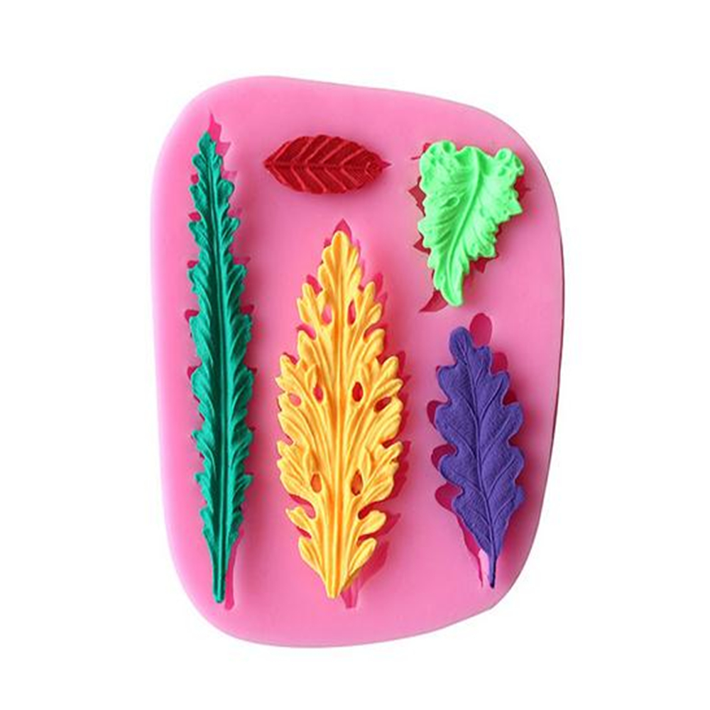 DIY Vegetable Leaves Plant 3D for Cake Decoration Liquid Silicone Tools Pastry mould Pudding Ice Cube Soap Molds(China (Mainland))