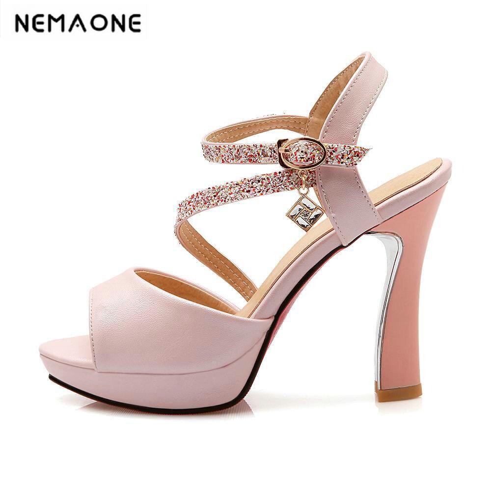 New Sexy Fashion Rhinestone Sandals for Women Platform Open Toe Summer Wedding Shoes High Heels Sandals<br>